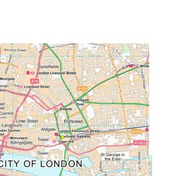 Detailed Map Of London.Central London 1890 1900 1 1 250